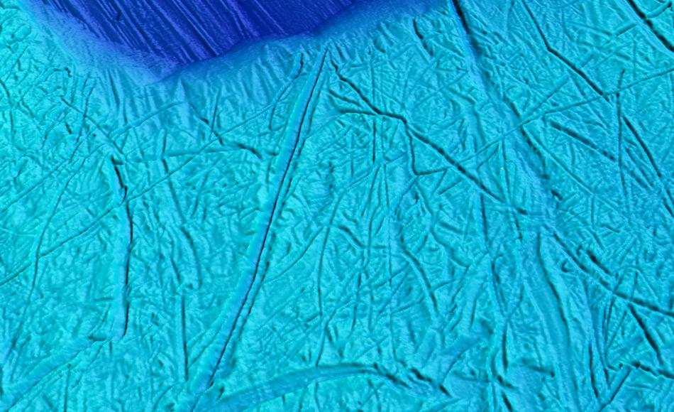 Die hochaufgelöste Aufnahme zeigt die Pflugspuren der vielen Eisberge, die vom Pine Island Gletscher vor 11'000 bis 12'000 Jahren abgebrochen waren. Bild: Martin Jakobsson / BAS