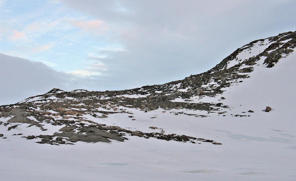 Robinson Ridge ist eine felsige Halbinsel im Wilkes Land, Ostantarktika. Der Sammelort liegt in der Nähe der zweiten australischen Station Casey. Bild: UNSW