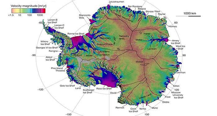 Fliessende Gletscher