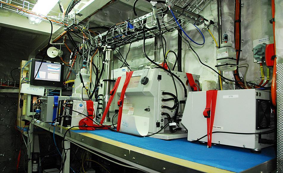 Die Ausrüstung des Schiffs entspricht dem neuesten Standard der modernen Forschung und bietet die Möglichkeit, Luftpartikel direkt vor Ort zu untersuchen. (Photo: MNF/ Zoran Ristovski)
