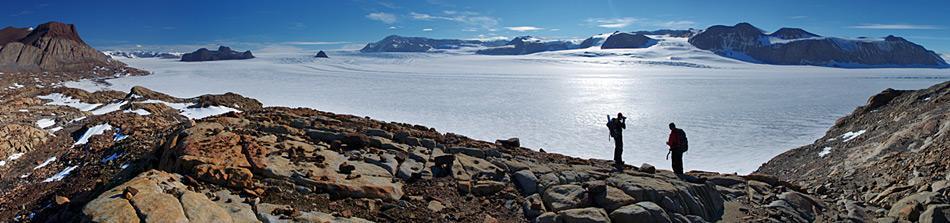 Aussicht auf Mt Suess und Mackay Gletscher von der Gondola Ridge. Foto: Richard Jones