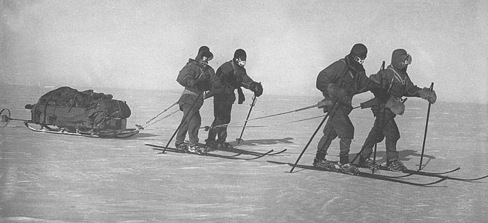 Scott unterwegs zum Südpol