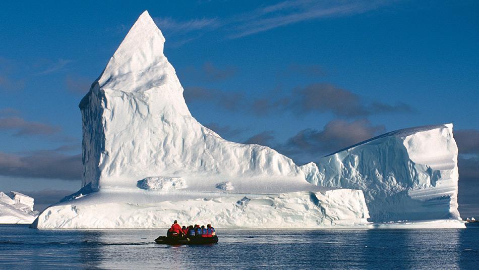 Die Weddell Sea ist für Menschen nur schwer zugängig. Nur die nördlichsten Regionen im Bereich der Antarktischen Halbinsel sind mit den grossen Eisbergen sind für Besucher zu erreichen.