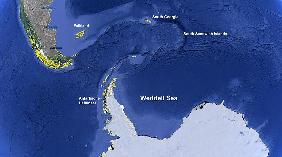 Das Weddel Meer soll, wenn es nach den Anstrengungen verschiedener Interessengruppen geht zum Schutzgebiet erklärt werden.
