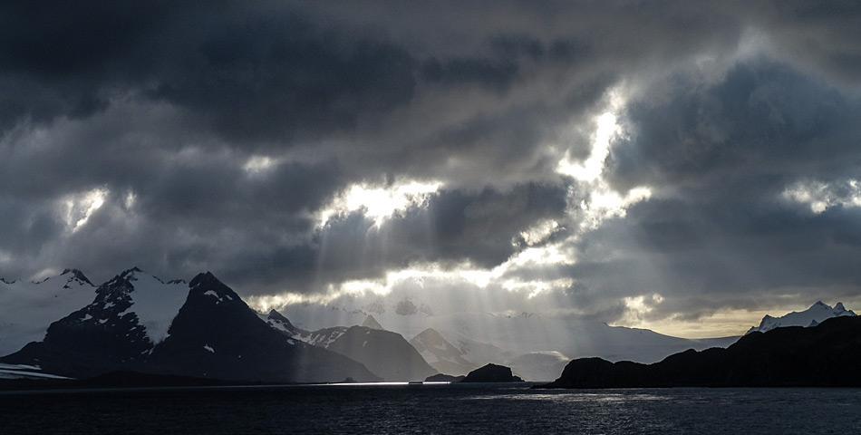 Die Insel Südgeorgien mitten im Südatlantik gehört zu den subantarktischen Inseln und war eine der wenigen bewohnten Inseln aufgrund der Walfangstationen. Foto: Katja Riedel