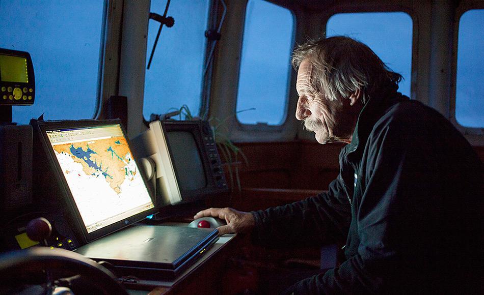 Jérôme Poncet ist seit Ende der 60er Jahre für und in den Polargebieten unterwegs und hat ein substantielles Wissen über Arktis und Antarktis. Er lebt zurzeit auf den Falklands. Foto: Florence Joubert