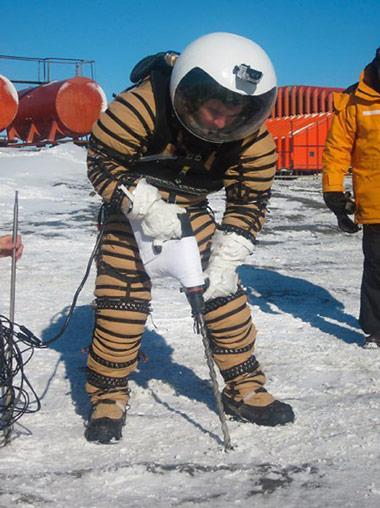Bohrarbeiten in der Antarktis