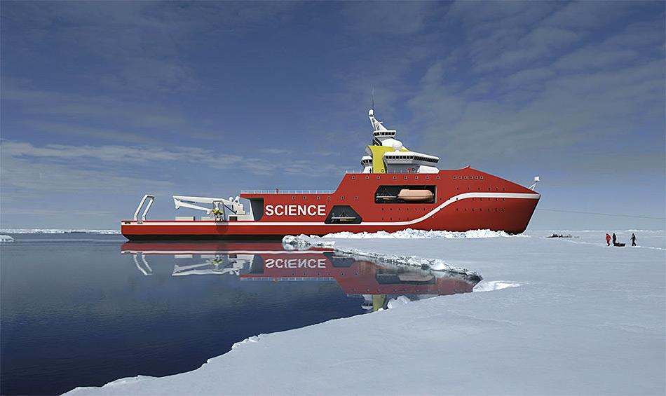 Geplant ist, den Eisbrecher erstmals im Jahr 2019 auf seine erste wissenschaftliche Mission zu schicken.