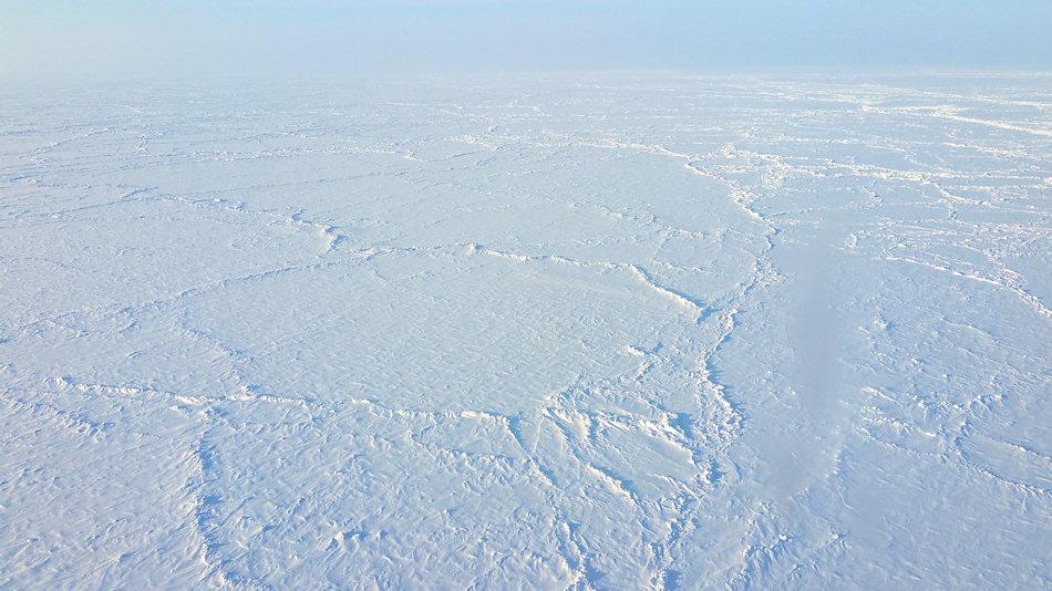 Der Arktische Ozean ist mit einer Fläche von rund 14 Millionen Quadratkilometer der kleinste Ozean. Das Meereis bedeckt im Normalfall den ganzen Ozean im Winter. Doch im Sommer schmilzt bis auf einen Rest am Nordpol und darum herum das Eis weg, seit 2006 jedes Jahr mehr. Bild Michael Wenger