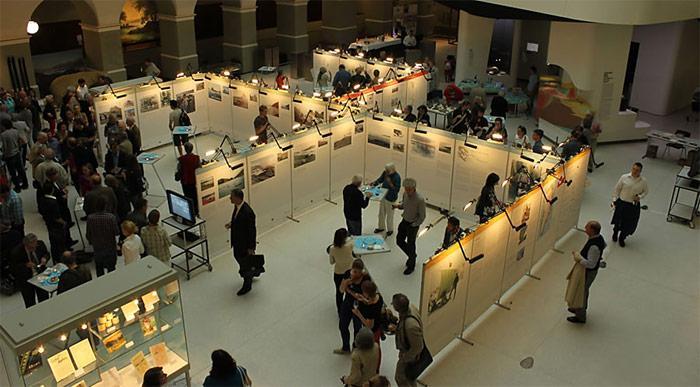 Die Eröffnung der Sonderausstellung «Quer durchs Grönlandeis – 100 Jahre Schweizer Grönlandforschung» am 14. Juni 2012 bei focusTerra. Bild: Peter Nievergelt