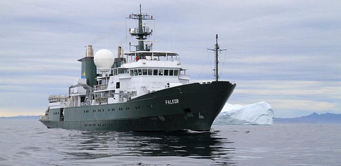 Die R/V Falkor ist das neueste Forschungsschiff des Schmidt Ocean Institut und hat auf einer Testfahrt den sensationellen Fund gemacht.