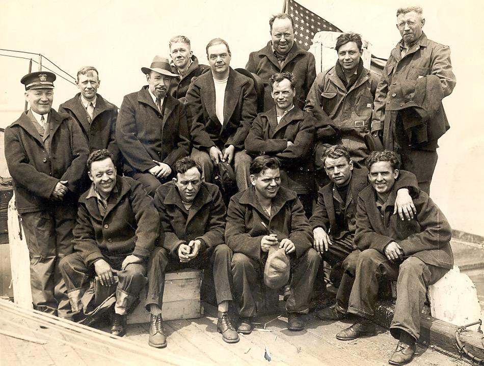 Die Besatzung der «Nautilus»-Expedition bestand aus einer 17-köpfiger Crew.