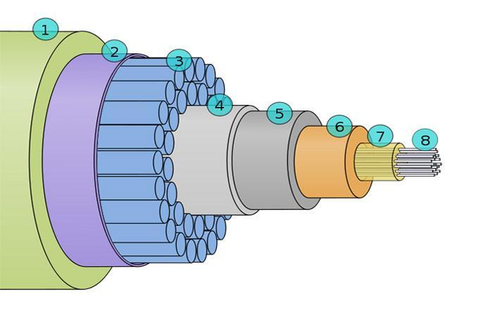 Querschnitt-Kabel