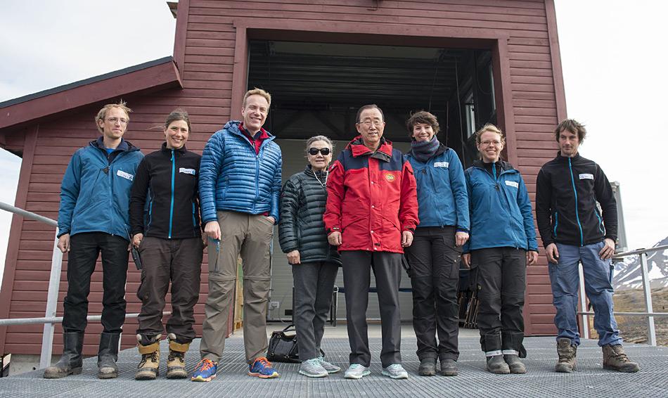 Das obligate Gruppenfoto mit dem prominenten Gast Uno-Generalsekretär Ban Ki-Moon. Foto: Shadé Barka Martins