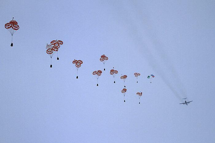 Iljuschin Fallschirmabwurf