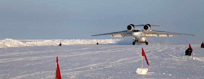 Antonov 74 Landung in Barneo